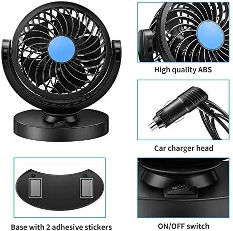 12V Enkele ventilator Auto-interieuraccessoires Autokoeling Swing Dashboard Ventilator Zomer Koeling Luchtcirculatie Ventilator jKdDFTFp
