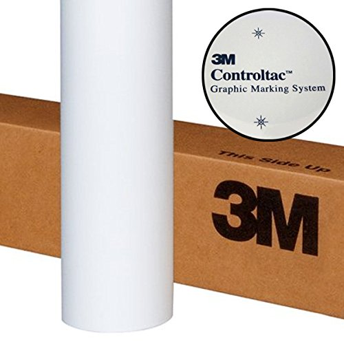 White Film Roll - 3M Controltac Translucent White Frosted Privacy Window Vinyl Roll (17.9
