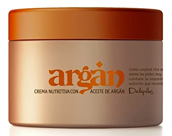 Deliplus Rich Argan Oil Anti aging Body Cream. Anti wrinkle Treatment for Dry Skin Enhanced With Karite and Soy Oil 6.75 fl oz. (200 ml)