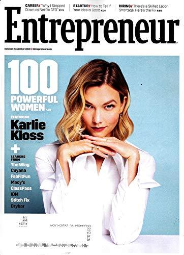 Entrepreneur Magazine (October November, 2019) KARLIE KLOSS Cover, 100 POWERFUL WOMEN