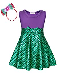 9f1343301 Little Mermaid Dress Ariel Costume Outfit Playwear Birthday Party Cosplay  Bowknot