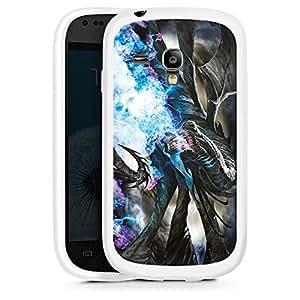 Silicona Carcasa blanco Funda para Samsung Galaxy S3 Mini - Axehammer