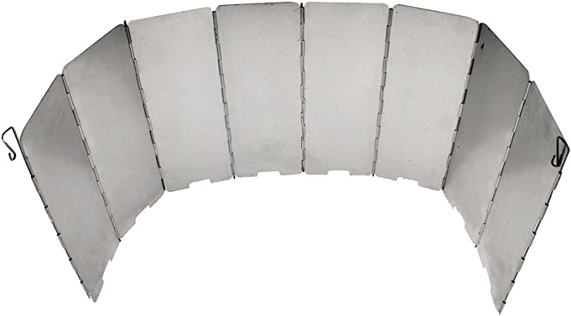 Gazechimp 8 Piezas de Placas de Estufa de Gas Plegables para Cocina Pantalla Parabrisas Protector de Viento para Acampada Picnic