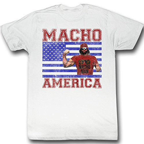 Macho Man WWF Macho America Adult T-Shirt Tee 3X