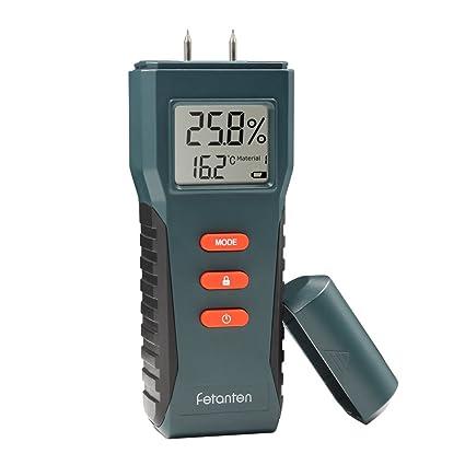 Fetanten Humidímetro, Madera Medidor de Humedad de Construcción Detector de Humedad Tester Medir la Humedad