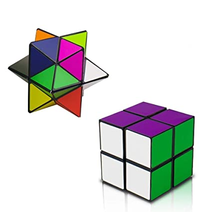 Magic Star Cube,SHONCO 2 in 1 Combo Infinity Cube Toy Transforming  Geometric Puzzle 3D Assembly Fidget Stress Anxiety Relief Magic Puzzle  Cubes for