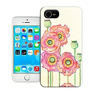 Unique Phone Case Flowers and birds Lotus bloom Hard Cover for iPhone 4/4s cases-buythecase