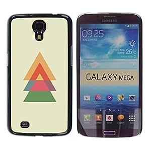 Be Good Phone Accessory // Dura Cáscara cubierta Protectora Caso Carcasa Funda de Protección para Samsung Galaxy Mega 6.3 I9200 SGH-i527 // Spruce Christmas Polygon Minimalist