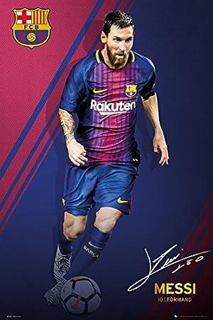 GB eye Ltd Barcelona, Messi 17/18, Maxi póster de 61 x 91,5 cm ...