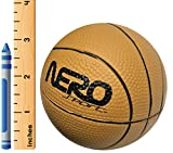 Nero NS200 High Bounce Rubber Mini Basketball 3.5'' Training Style Let Them Play Outside Great For Kids Streets Park Back Yard Agility Ball Gifts Wholesale Mini pro (Brown Basketball)
