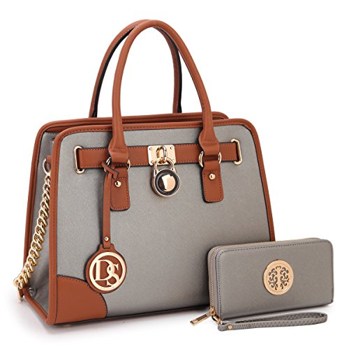 - MKP Collection Fashion Woman Handbag and Wallet set~Beautiful Tote~Designer Satchel~Nice Purse 6892W Silver