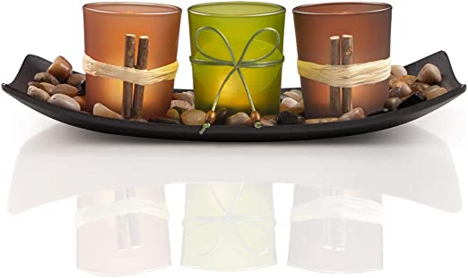 Amazon Com Darjen Decorative Candle Holder Gift Set For Women Christmas Home Decor Table Centerpieces For Dining Room Table Coffee Table Decor Kitchen Dining