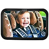 Baby & Mom [2018 Model] Back Seat Baby Mirror - Rear View Baby Car Seat Mirror with Wide Convex Shatterproof Glass and Fully Assembled - Crash Tested and Certified for Safety
