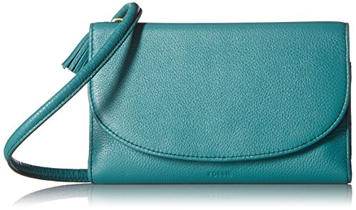 Fossil Sophia Wallet on a String Bag, Teal Green by Fossil