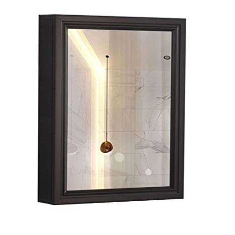 Amazon.com: Armario con espejo de baño de 3 espacios, espejo ...