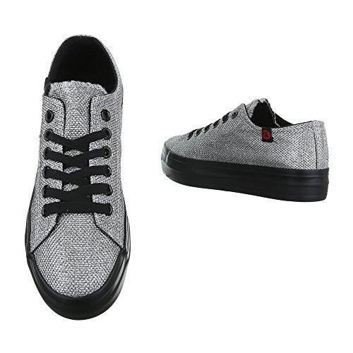Ital de Mujer Design plata casa Zapatillas qq1gBT