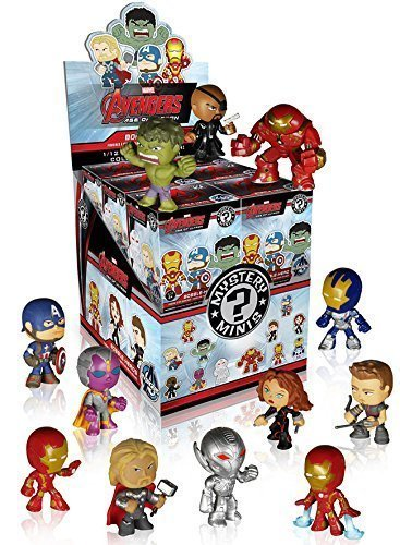 Funko Marvel Avengers 2 Age of Ultron Mystery Minis Vinyl Mini-Figure Display Box - Contains 12 Blind Box Figures by Mystery Minis