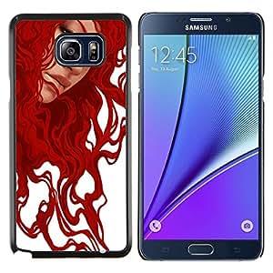 LECELL--Funda protectora / Cubierta / Piel For Samsung Galaxy Note 5 5th N9200 -- Pintura jengibre arte de la muchacha blanca --