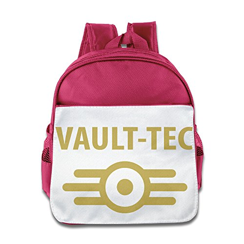 HYRONE Vault Tec Video Game Boys And Girls School Backpack For 1-6 Years Old Pink