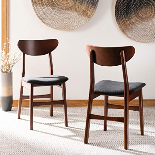 Safavieh Home Lucca Cherry and Black Retro Set of 2 Dining Chair,