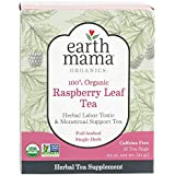 Earth Mama Organic Raspberry Leaf Tea Bags for Labor Tonic and Menstrual Support, 16-Count