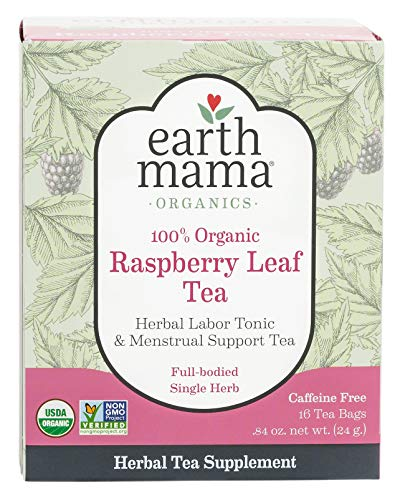 Earth Mama Organic Raspberry Leaf Tea Bags for Labor Tonic and Menstrual Support, 16-Count ()