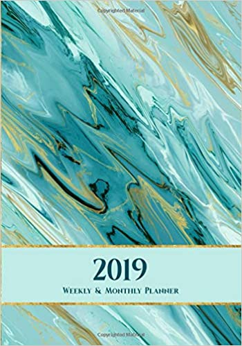 2019 Weekly & Monthly Planner: 12-Month Agenda and Calendar ...