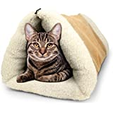 PET Palace 2-in-1 Pet Bed Snooze Tunnel and Mat for Pets Cats Dogs and Kittens for Travel or Home, APL1343, Beige