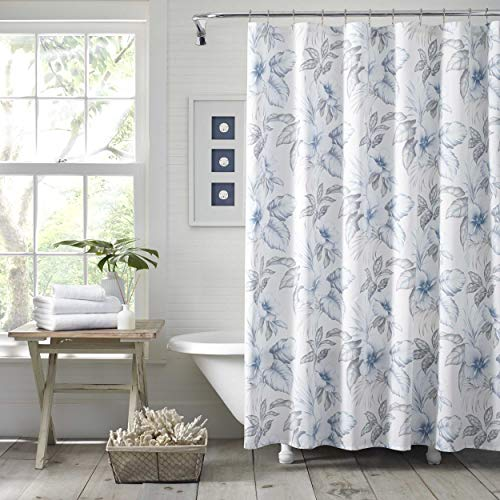 Tommy Bahama Casablanca Garden Shower Curtain 72x72 Grey