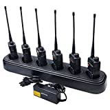 NKTECH 6-Way Six-Way Universal Rapid Multi Charger For Pofung BAOFENG UV-5R UV-5RV2+ BF-F8 BF-F8+ BF-F9 TYT TH-F8 Two-Way Radio Pack of 2