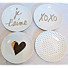 Prima Design Signs of Love Appetizer Plate-Set of 4  sc 1 st  Amazon.com & Amazon.com: Prima Design