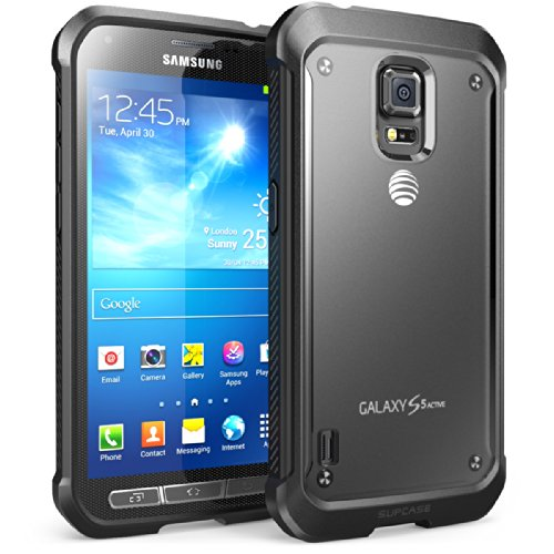 SUPCASE UB Series Case for Samsung Galaxy S5 Active, Premium Hybrid Bumper [Not Fit Samsung Galaxy S5 Regular Version and Galaxy S5 Sport Version] (Black) (Phone S5 Active Galaxy Cases)