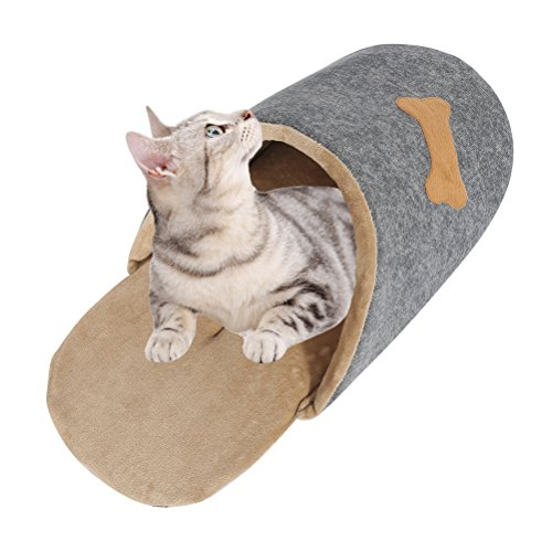 Tongli Pet Bed Cat Dog House Soft Warm Kennel Shoes Shape Dog Beds Cat Nesting