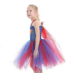 - 51BEFEqc8eL - Dream-Store Little Girls Costume Dress Halloween Super Girls Cosplay Dress Costumes for Toddler and Girls