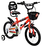 MAD MAXX BIKES Steel Kids 16T BMX Road Cycle for 4 to 6 Years Child -16 inches, Neon Red