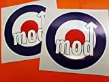 2 x Mod RAF Roundel Vinyl Stickers