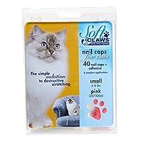 Feline Soft Claws Cat - Tapas para uñas, kit para llevar a casa, pequeño, rosado