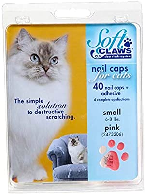 Amazon.com : Feline Soft Claws Cat Nail Caps Take-Home Kit, Small, Pink : Pet Nail Clippers : Pet Supplies