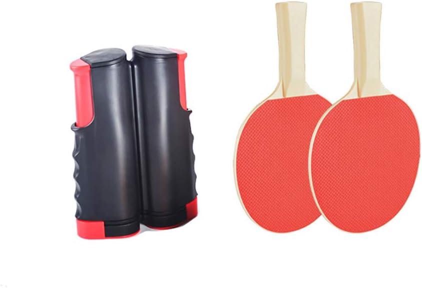 ABEDOE Juegos de Ping-Pong portátiles, Juego de Tenis de Mesa retráctil, 1 Soporte de Malla 2 Paleta de Ping-Pong para niños Adultos Juego de Interior al Aire Libre para casa
