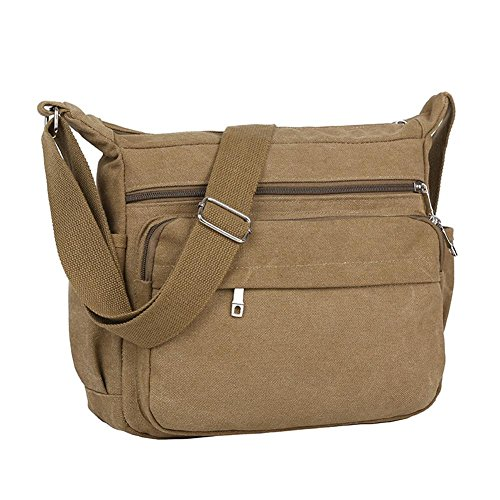 Messenger Bag Camel Crossbody Travel Shoulder Men Bags Retro Solid Widewing Casual Zipper HvOzqn