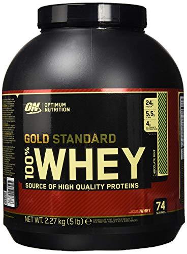 OPTIMUM NUTRITION GOLD STANDARD 100% Whey Protein Powder, Chocolate Mint 5LB