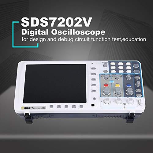 Deep Memory Digital Oscilloscope, Owon SDS7072EV Compact Digital Storage Oscilloscope 70MHz 2+1 Channels Record USB Waveform Generator Logic Analyzer Spectrum