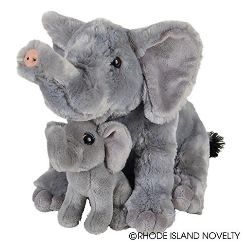 Adventure Planet Birth of Life Elephant with Baby Plush Toy 11