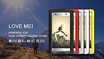 Love Mei Sony Xperia XA2 Case,Outdoor Heavy Duty Armor Waterproof/Shockproof Dust/Dirt Proof Aluminum Metal Case Cover for Sony Xperia XA2 5.2 inch ...