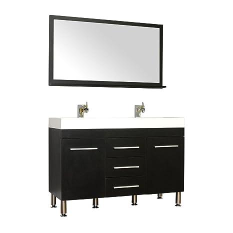 Alya Bath AT 8048 B D S Ripley Collection Double Modern Bathroom Vanity  Set, Black
