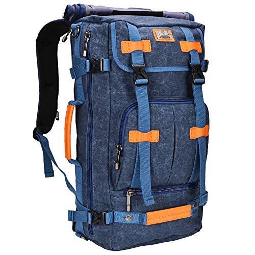 f8fcd70a10 WITZMAN Canvas Backpack Vintage Travel Backpack Hiking Luggage Rucksack  Laptop Bags