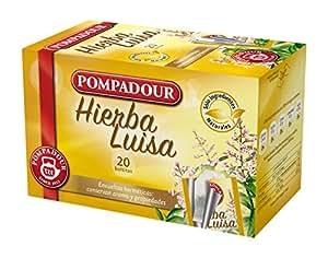 Pompadour - Hierba Luisa - Té de Plantas - 20 bolsitas - [Pack de 5]
