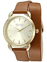 SO & CO New York  Women's 5086.2 SoHo Analog Display Quartz Brown Watch