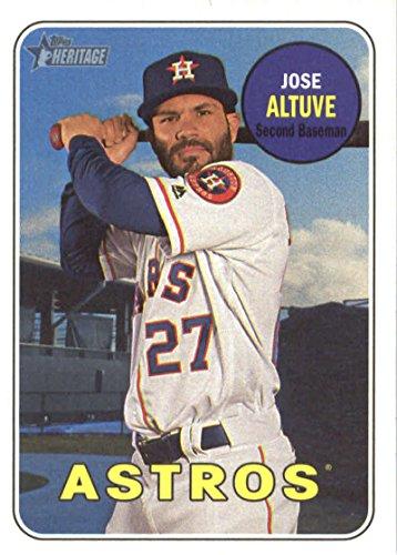 2018 Topps Heritage #35 Jose Altuve Houston Astros Baseball Card