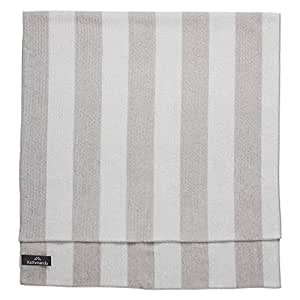Kathmandu Microfibre Large Camping Hiking Travelling Soft Lightweight Towel Silver Grey/Steel Grey Stripe